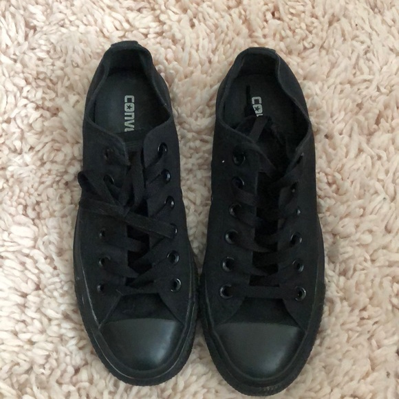 f8fc26295a57 Converse Shoes - All black low top Chuck Norris Converse